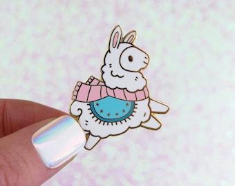 Fa-La-La-Llama Winter Enamel Pin