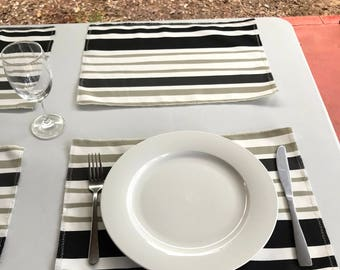Bold Placemat Set - Summer Collection - Placemats - striped