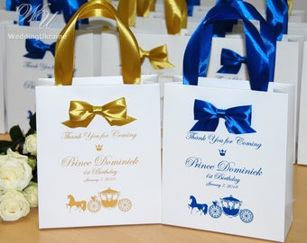 1st Birthday Bags For Guests Thank Your Coming Little Prince 30 Elegant Bow Welcome Personalized Baby Boy Party Favors