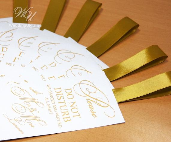 30 Gold Hochzeit Türschilder Tun Und Nicht Stören Türschild Hochzeit Tür Tags Personalisierte Hochzeit Gunsten Ideen Mit Band Und Ihren Namen