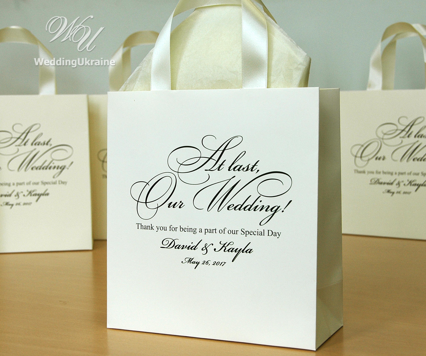 Wedding Ideas For 30 Guests: 30 Wedding Welcome Bags For Guests With Satin Ribbon And
