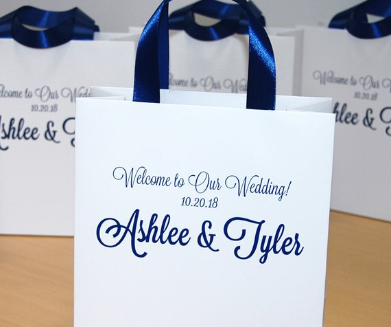 Personalized Wedding Favor Gift Bags For Hotel Guests Etsy
