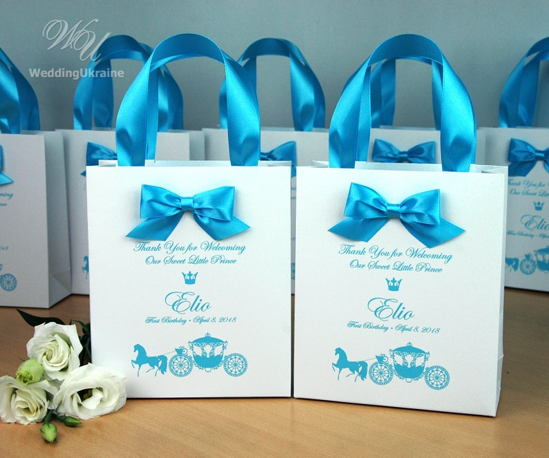 1st Birthday Gift Bags For Favors Personalized Thank Your Bag