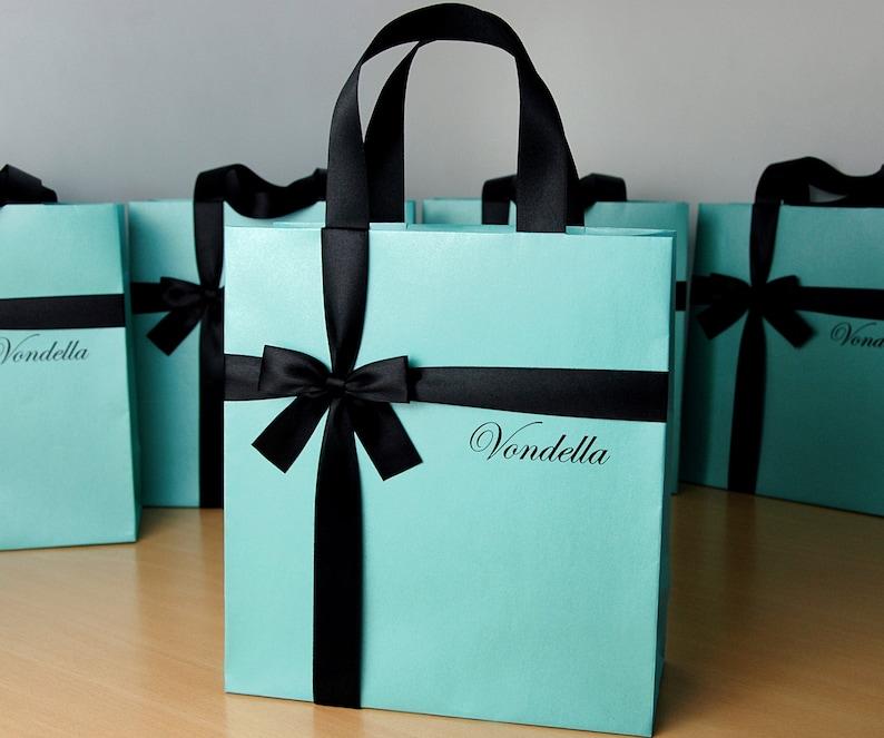 image 0 ... & Birthday gift bags with satin ribbon bow u0026 custom name | Etsy