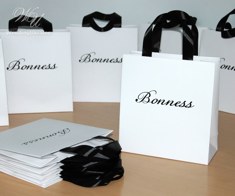 e3eb44f9fe9c 20 Logo Bags with satin ribbon   your Logo Personalized gift