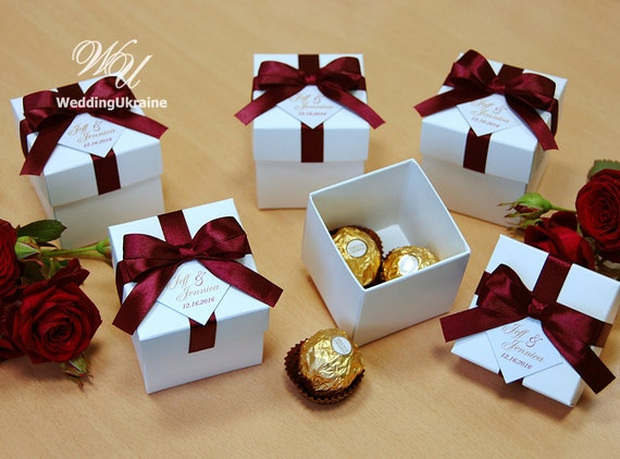 Wedding Favours And Gifts: Elegant Wedding Bonbonniere Wedding Favor Boxes With