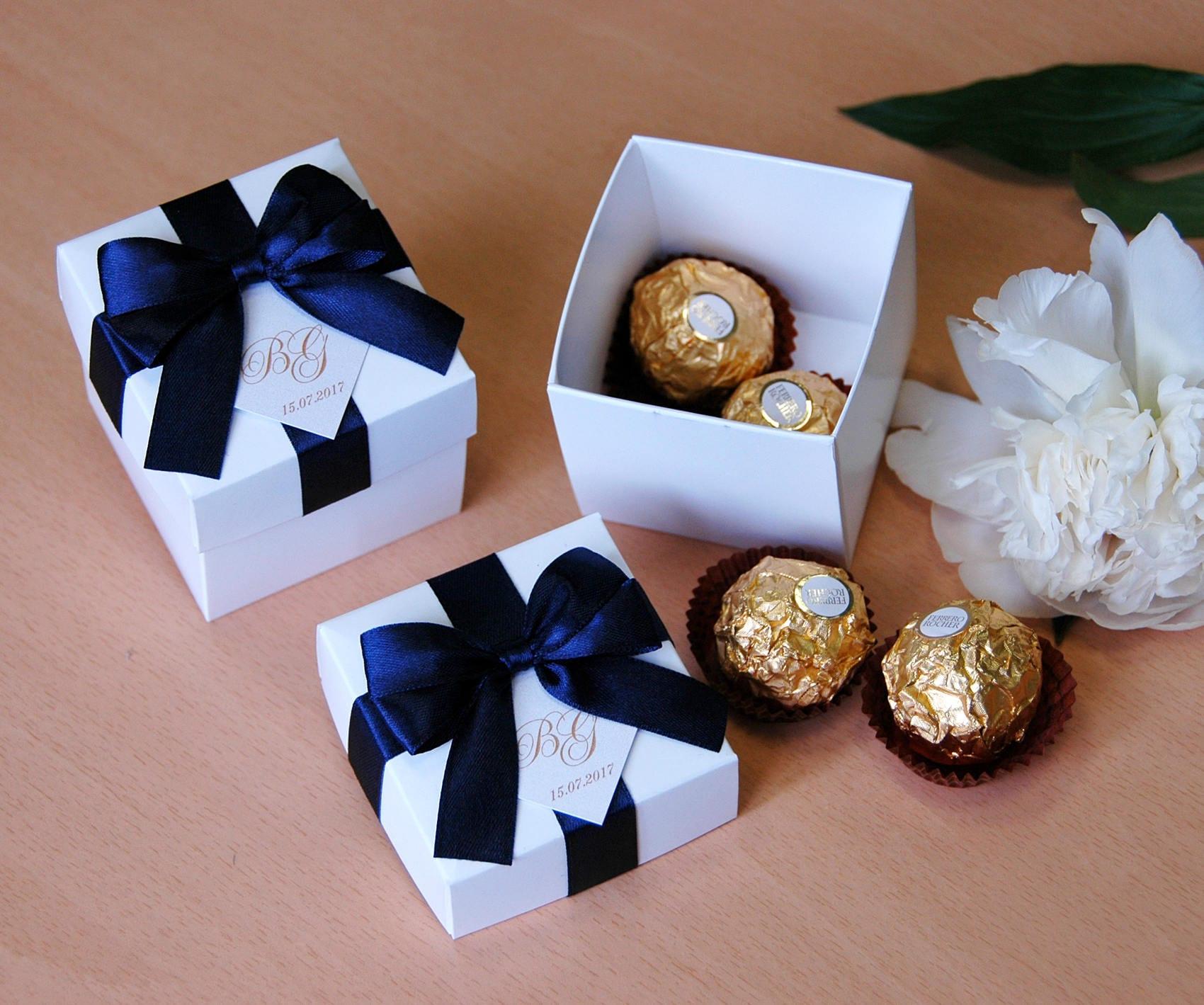 Navy Blue Wedding Bonbonniere Elegant Wedding Favor Boxes