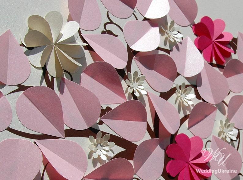 Custom Blooming Wedding tree Wedding Guest Book Ideas with names Ivory Pink Wedding Guestbook Alternative Wedding flowering tree