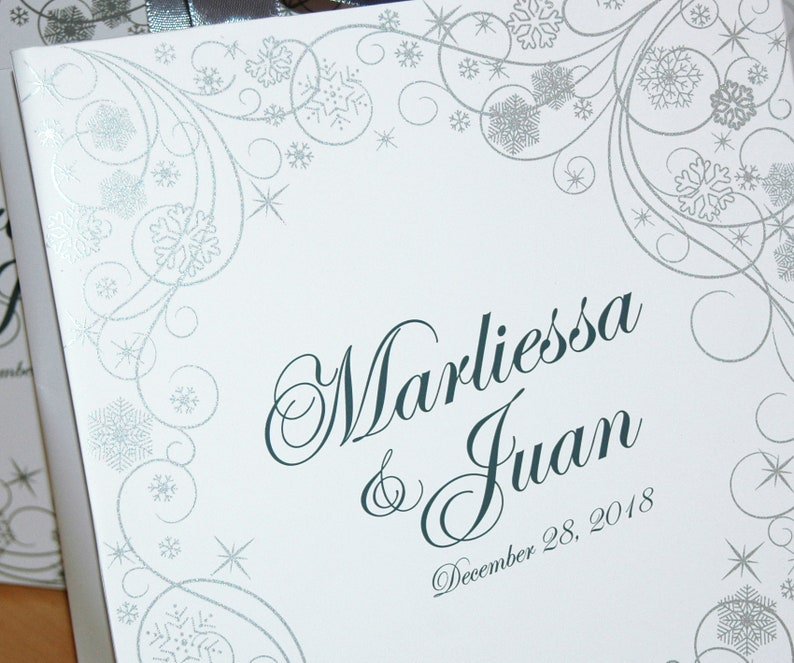 Gift Paper Bags for your Wedding guests Custom Personalized wedding favors Winter Wonderland 50 Welcome Bags with satin ribbon and names