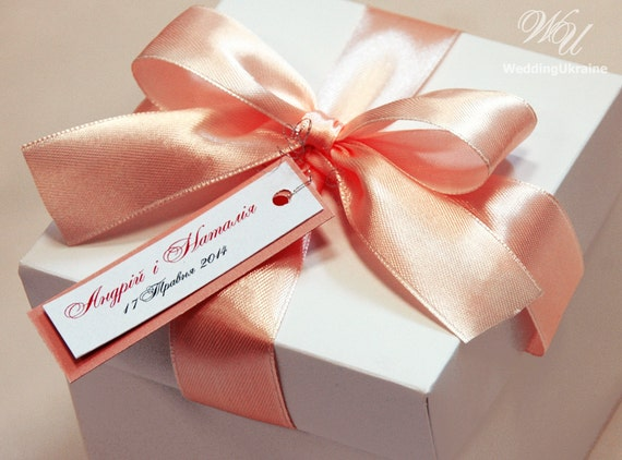 25 Wedding Favor Gift Boxes With Satin Ribbon Bow And Etsy