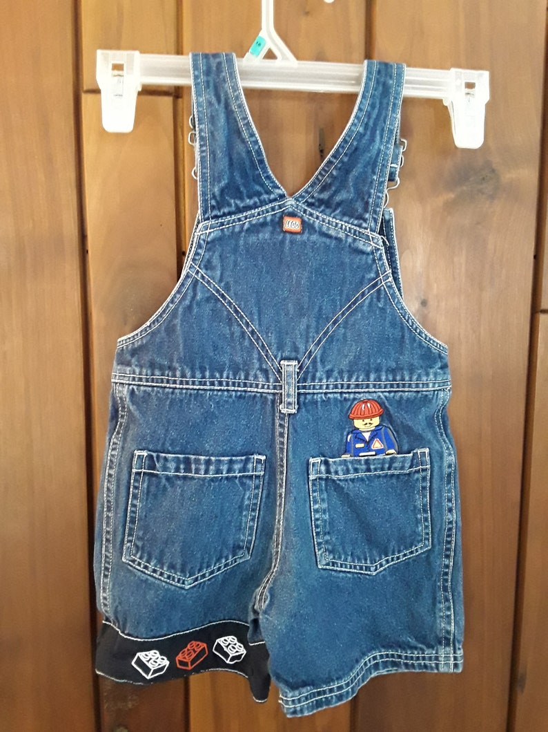 Size 2T Adorable Lego Wear Overalls with Lego Man and Blocks Embroidered