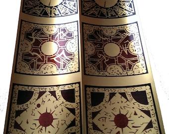 """Hellraiser Lament Configuration Sticker 3"""" X 3"""" FULL SET Metallic Gold"""