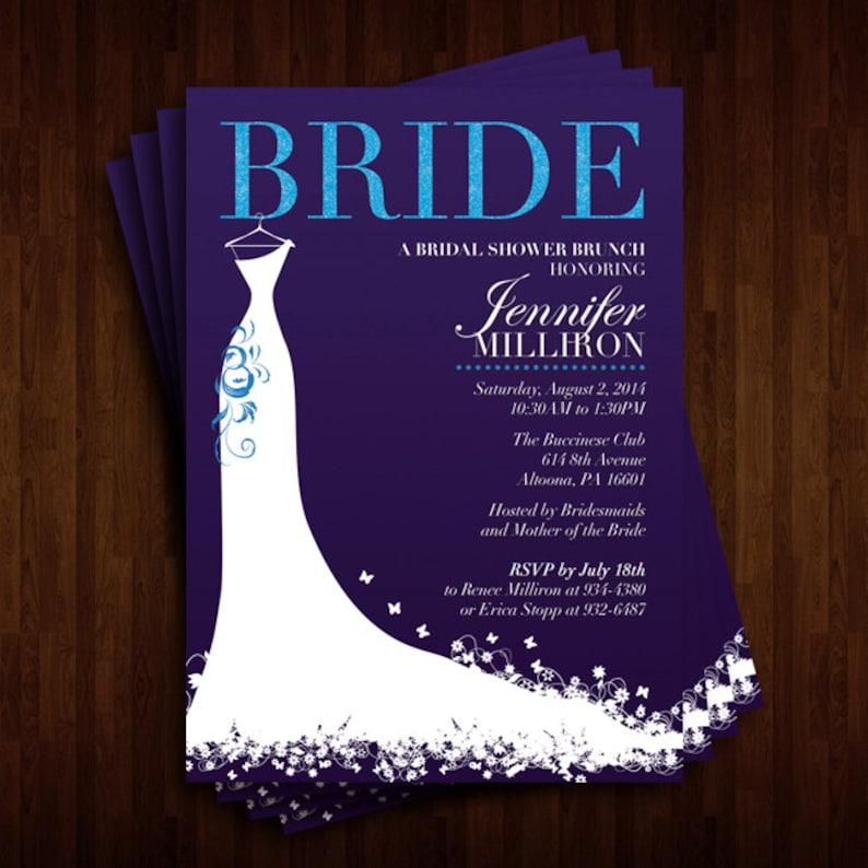 Fancy and Glamorous Bridal Shower Invitation