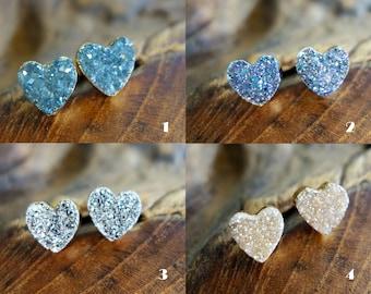 Herz Ohrringe aus Edelsteinen