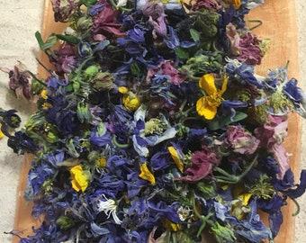 Daisy~Buttercup~Starflower~Bluebell~Sacred~Love~Faery~Dried~Natural~Biodegradable~Doves~Confetti~Pot pourri~