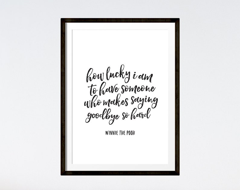 How Lucky I Am Print Winnie The Pooh Quote Instant Download Etsy