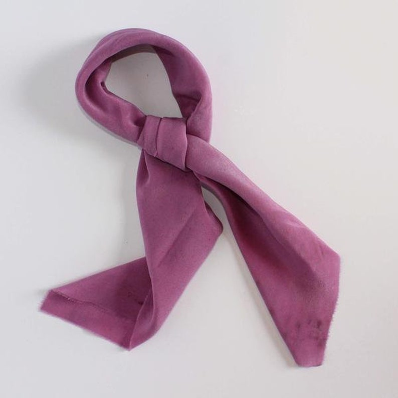 ca1d13c20c0c SECONDS Violet Hand Dyed Silk Neck Scarf Fashion Accessory