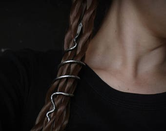 Viking serpent hair wrap