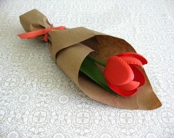Handmade Paper Tulip (Single Flower)