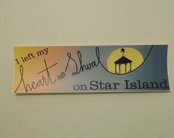 Heart and Shoal Bumper Sticker