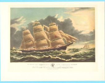 Clipper Ship Dreadnought book illustration.