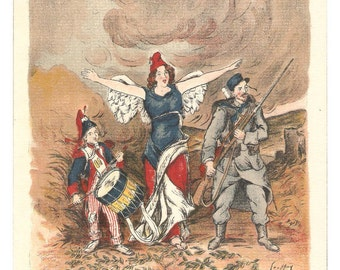 La Marseillaise French Newspaper Illustration