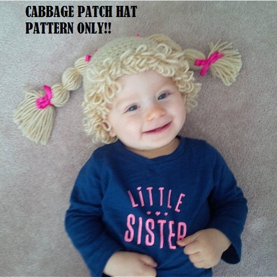 Crochet Cabbage Patch Wig Pattern Cabbage Patch Hat Crochet Etsy