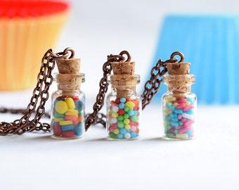 Bottle of Sprinkles Necklace
