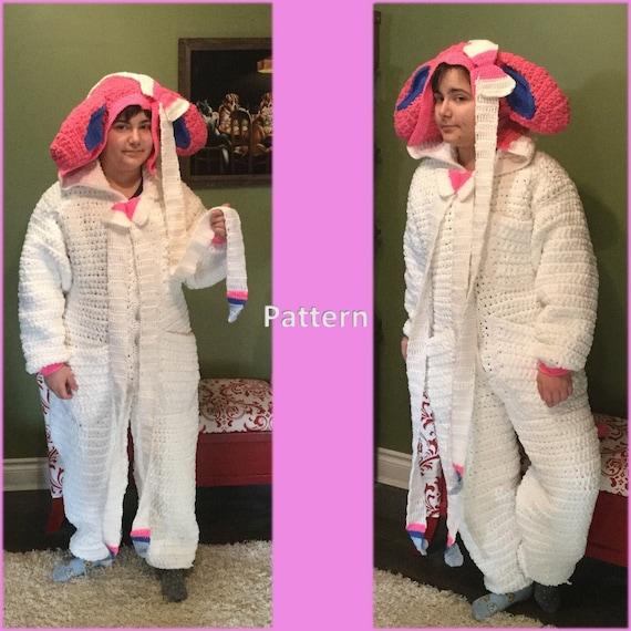 Eevee Onesie Crochet Pattern Ladies XS to XL