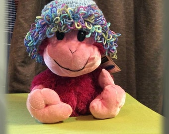 Crocheted Loopy Fun Toddler Winter Hat