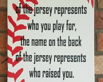 Charming The Name On The Jersey Sign, Team Sign, Motivational Sign, Baseball Sign, Baseball  Wall Decor, Baseball Wall Art, Sports Decor, MLB Signs