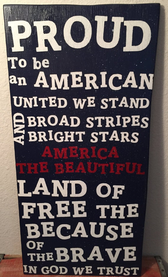 Proud To Be An American United We Stand Broad Strips And Etsy