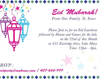Eid Party Invites Etsy