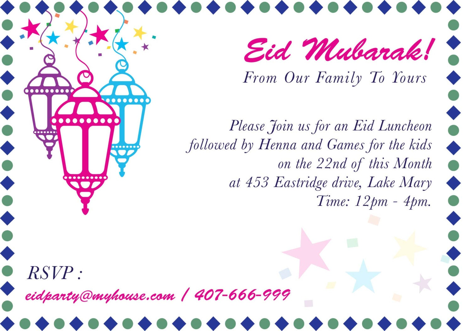 Eid Party Invitation Eid Mela Islamic Events Mosque fund