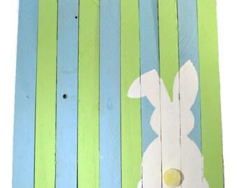 Bunny Pallet Sign - Easter Wood Pallet Sign - Bunny Sign - Easter Pallet - Happy Easter Pallet Sign - Easter Decor - Bunny Wood Sign
