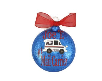 Mail Carrier Ornament - Gift for Mailman - #1 Mail Carrier Ornament - Personalized Mail Carrier Gift - Mailman Ornament - Best Mailman Gift