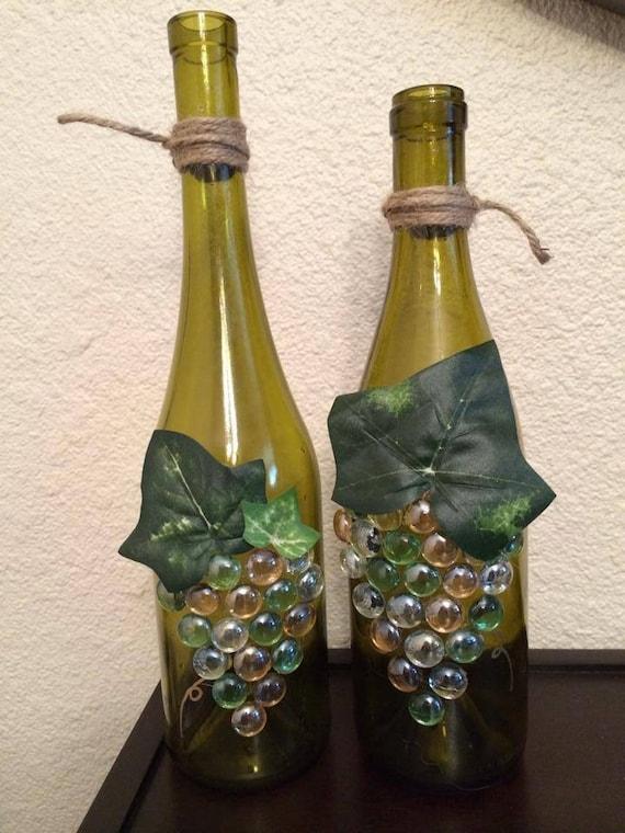 bouteille d co art de la bouteille de vin bouteille de vin etsy. Black Bedroom Furniture Sets. Home Design Ideas
