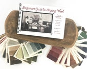 Beginners Guide to Dyeing Wool 60 Primitive Colors Sample Set TOD Spoon. Recipes in book using W. Cushing Acid Dyes