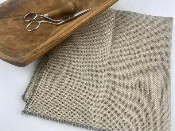 """36/""""x 60/"""" Monks Cloth 2/"""" x 2/"""" for Punch Needle and Primitive Rug Hooking 1 yard"""