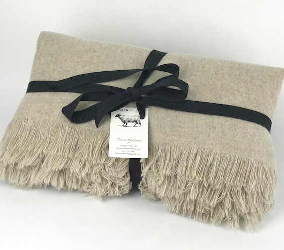 Washable Wool Throw Blanket 40x40 Milled In The Etsy Magnificent Washable Wool Throw Blanket
