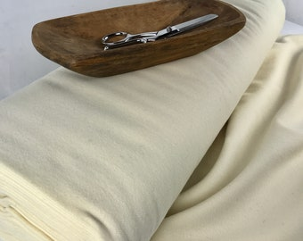 """100% Wool Fabric by the Yard - Medium weight 14oz. yard ~  58"""" Wide ~ Color: Natural Off White."""