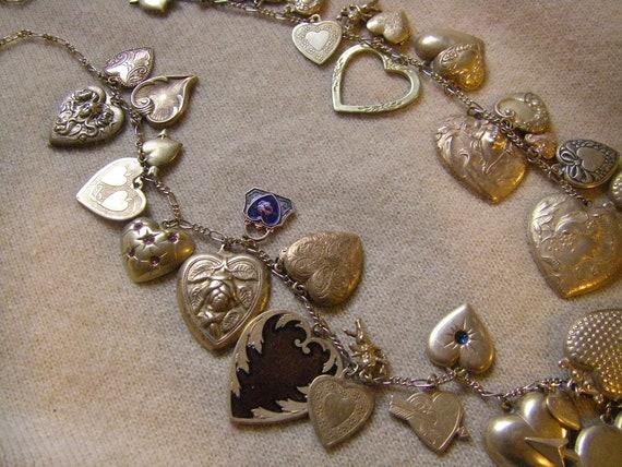 Vintage Pididdly Links Art Nouveau Brass Hearts Ch