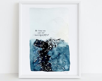 He drew me out of many waters - Deep Blue Sea -Psalms - Encouraging Gifts - Chronic Illness Warrior