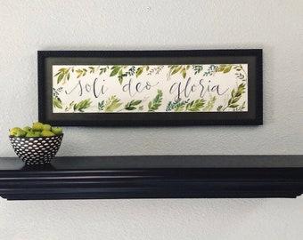Soli Deo Gloria - Watercolor Wall Art -