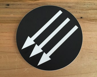 "4"" vinyl sticker with anti-fascist emblem"