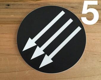 "4"" vinyl sticker with anti-fascist emblem (5 pack)"