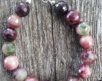 Jade Tourmaline Gemstone Bracelet