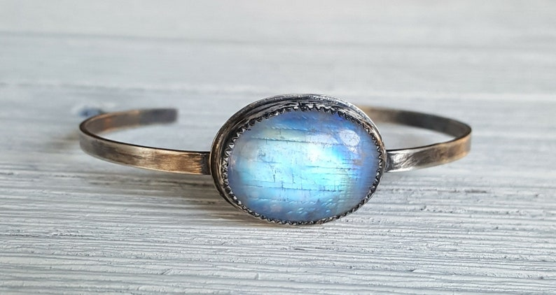 Moonstone bracelet Adjustable Bohemian women/'s bracelet