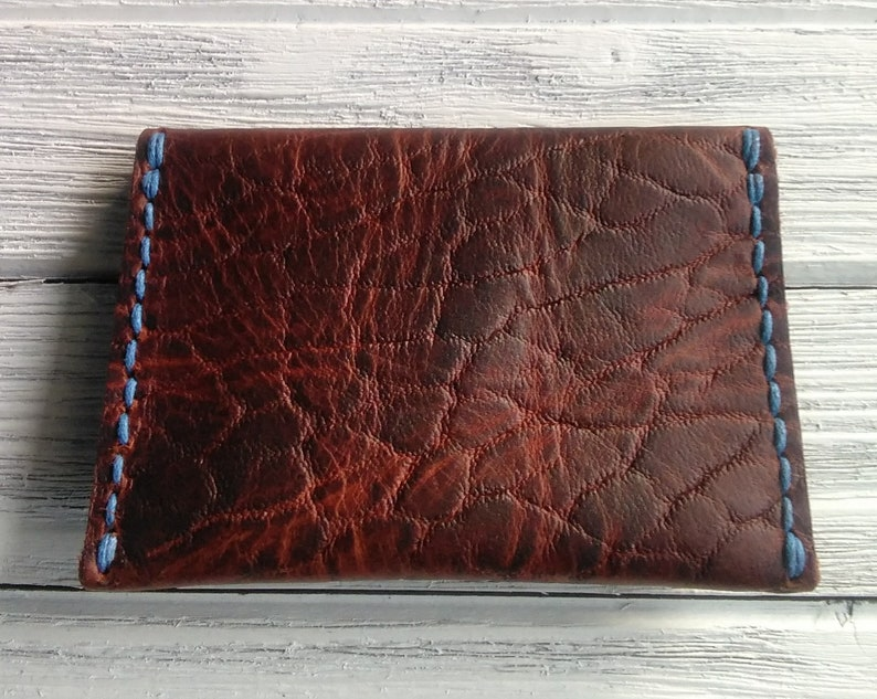 Bison leather cardcoin purse pouch and coin purse