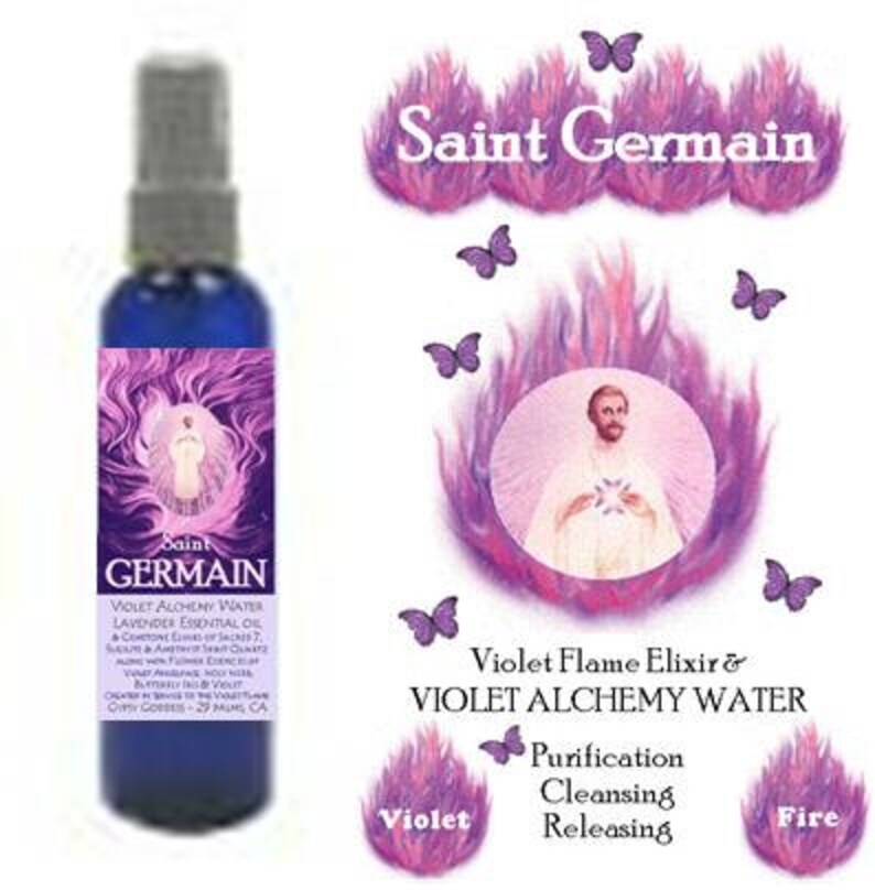 ST  GERMAIN Violet Alchemy Water by Gypsy Goddess